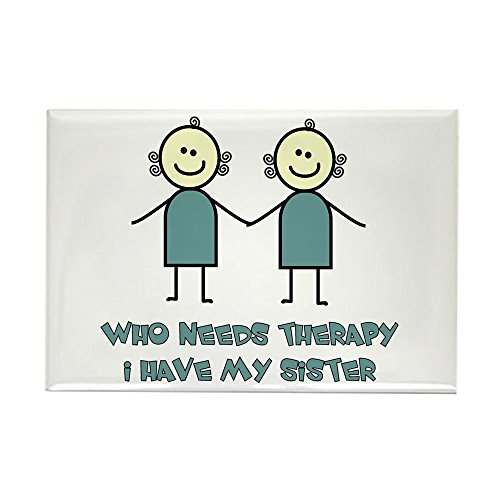 CafePress Sisters Fun Rectangle Magnet, 2