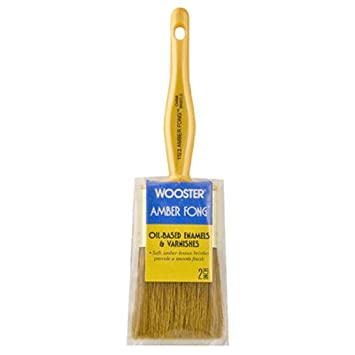 Wooster Brush 1233-2 Amber Fong Angle Sash Paintbrush, 2-Inch