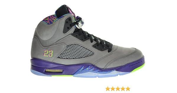 low priced 6b620 d34d9 Amazon.com   Jordan Air 5 Retro Bel Air Fresh Prince Men s Shoes Cool Grey Club  Pink-Court Purple-Game Royal 621958-090 (Size 10.5)   Basketball