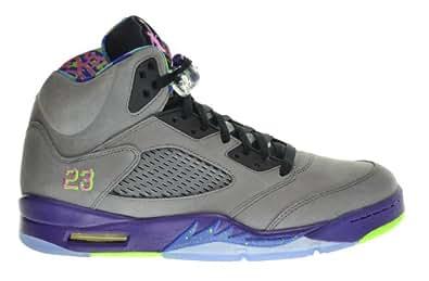 "Air Jordan 5 Retro ""Bel Air"" Fresh Prince Men's Shoes Cool Grey/Club Pink-Court Purple-Game Royal 621958-090 (Size 7.5)"