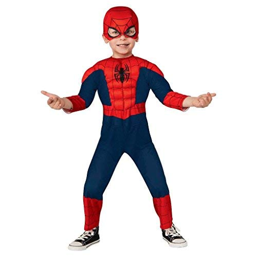 Spiderman Deluxe Muscled Toddler Costume -(2T-3T) ()