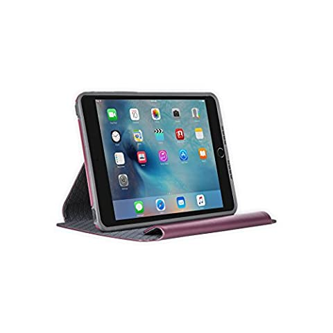 OtterBox SYMMETRY SERIES FOLIO Case for iPad Mini 4 (ONLY) - Retail Packaging - MERLOT SHADOW (MERLOT/SLATE (Ipad 4 Folio)
