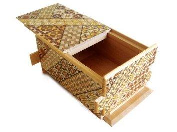 Yosegi Puzzle Box 5 sun 10 steps