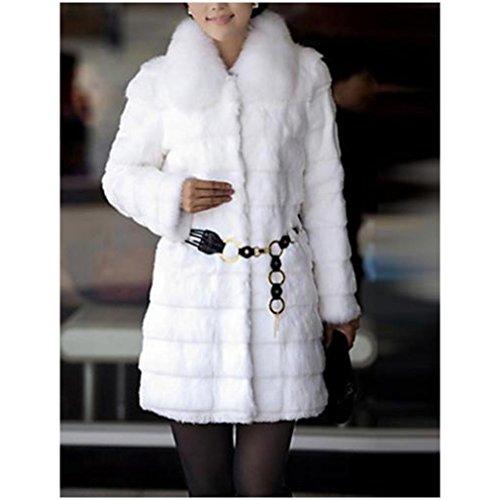 女性の新しい冬の模造キツネの毛皮のコート