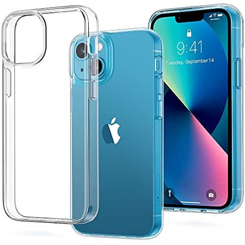 Vakoo Crystal Clear Kompatibel für iPhone 13 Hülle 2021, Militärschutz Stoßfeste Kratzfeste Schutzhülle Transparent Case Dünne Handyhülle (6,1 Zoll) - Durchsichtig