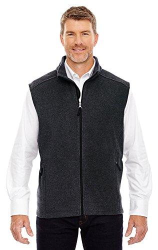 Ash City Core 365 Men's Tall Journey Fleece Vest, 3XT, Hthr Chrcl 745