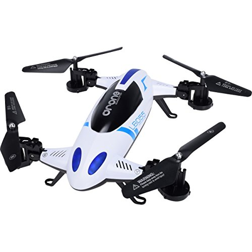 2 in 1 Drone L6055 2.4Ghz 4CH 6-Axis Gyro RC Flying Quadcopter car with Height Hold Mode Multipurpose Vehicle by WorryFree Gadgets