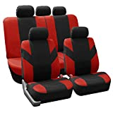 FH Group FB072RED115 Full Set Seat Cover (Road Master Airbag and Split Bench Compatible Red): more info