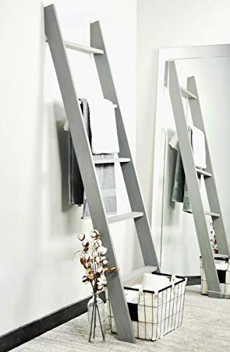 """BrandtWorks 204L Weathered Gray 72"""" Decorative Blanket Ladder"""