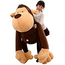 Drasawee Plush Stuffed Gibbon Toy Soft Giant Monkey Doll Creative Gift For Kids 40CM