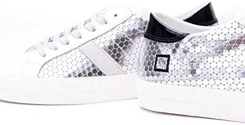 D.A.T.E. Luxury Fashion Donna W321HLPGSLSIL Argento Pelle Sneakers | Primavera-Estate 20