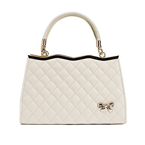 imbettuy Women Bags Tote Ladies Handbag Shoulder Crossbody Bag Soft Surface PU Leather Lattice Beige