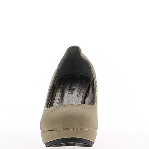 Offset opaca donna tortora a scarpa e tacchi alti 9,5 cm