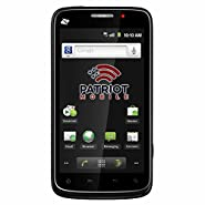 Patriot Mobile Phone ZTE Warp - Prepaid Phone - Includes 15 days of service Unlimited Talk/Text/500MB Data