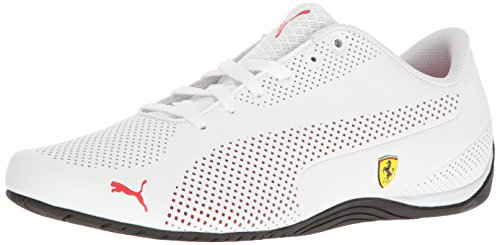 (PUMA 30592103 Men's SF Drift Cat 5 Ultra Walking Shoe, Puma White-Rosso Corsa-Puma Black, 8 M US)