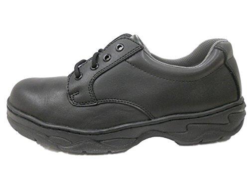 Grabbers Mens 2325 Plain Toe Oxford Slip Resistant Work Shoes Black Xk5sKKa