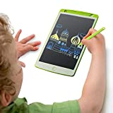 Parallel Halo LCD Drawing Board, 9.7' Drawing Area Colorful Drawing Doodle Board for Kid Learning (Green)