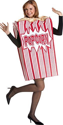 UHC Women's Movie Night Box Of Popcorn Theme Party Adult Halloween Costume, OS]()