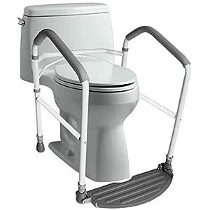Toilet Safety Frame & Rail | Folding & Portable Bathroom Safety Handrail Grab Bar |...