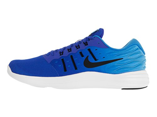 Nike Men's Lunarstelos Running Shoes, Black, 7 UK Azul (Hyper Cobalt / Black-blue Glow-white)