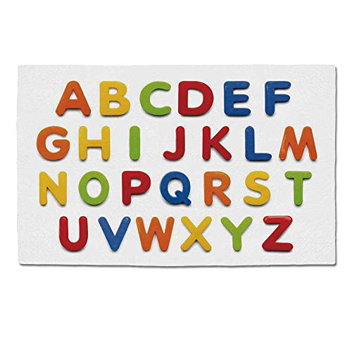 880 Elk - YOLIYANA Letters Durable Door Mat,Multicolored Collection of Alphabet Letters Education Image Capital Symbols Writing for Home Office,One Size