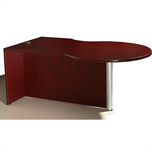 Boss Office Products N647L-M P-Desk Shell, Mahogany ()