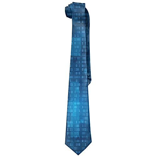 Programmer Binary Code Blue Mens Fashion Silk Ties Unique Gift Neckties
