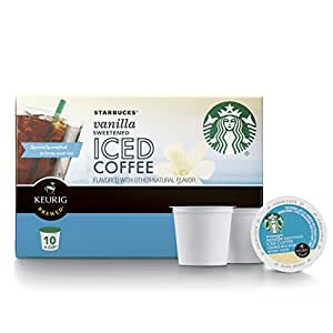 Starbucks Sweetened Iced Coffee Keurig Pods Vanilla 60