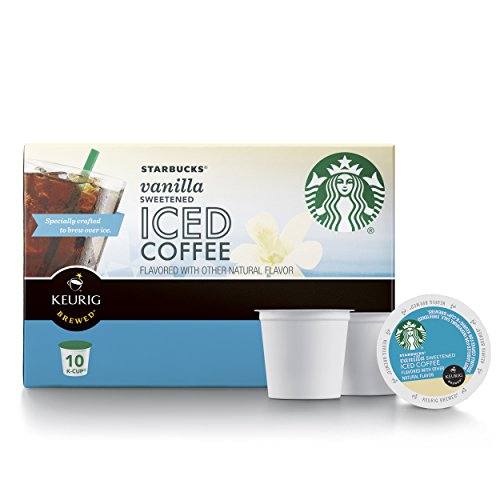 Starbucks Sweetened Iced Coffee Keurig Pods, Vanilla - (60 Single Serve K-Cups), (Pack of 6) by Starbucks