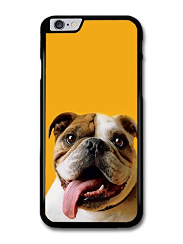 Funny English Bulldog With Big Tongue coque pour iPhone 6 Plus 6S Plus