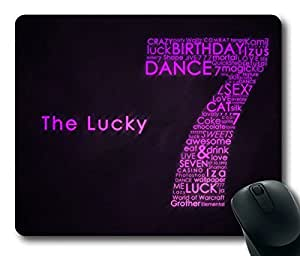 The Lucky Seven Masterpiece Limited Design Oblong Mouse Pad by Cases & Mousepads