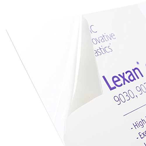 Lexan Sheet - Polycarbonate - .177' - 3/16' Thick, Clear, 12' x 12' Nominal