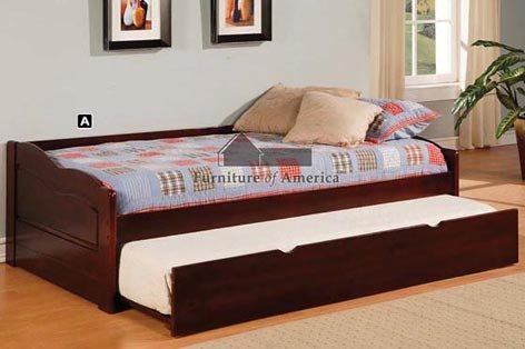 Trundle Cherry Daybed (247SHOPATHOME IDF-1737 Day-Beds, Twin, Cherry)