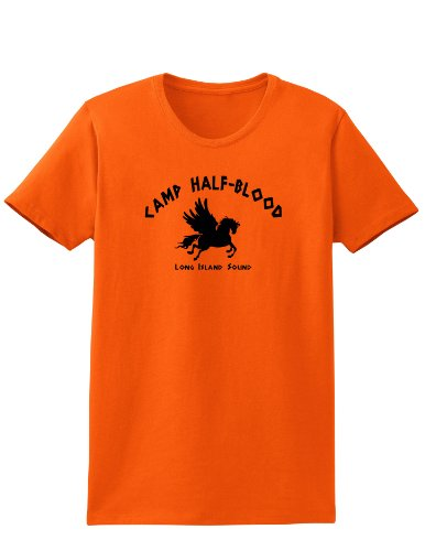 TOOLOUD Camp Half Blood Adult Womens T-Shirt - Ladies - Orange - Medium