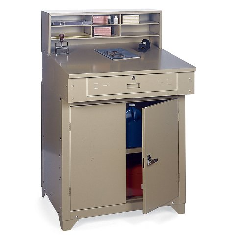 Edsal PSD7813 Steel Premier Closed Shop Desk, Easy to Assemble, 34