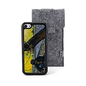 CaseCityLiu - the Sower Vincent Willem van Gogh Oil Painting Design Black Bumper Plastic+TPU Case Cover for Apple iPhone 5C Come With FREE Non Woven Packing Bag