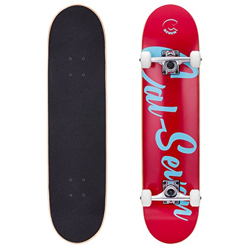 Cal 7 Complete Skateboard, Popsicle Double Kicktail Maple Deck, Skate Styles in Graphic Designs (7.5