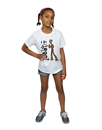 I Blanc Teenage Marvel Fille Avengers shirt War T Am Cult Absolute Infinity Groot 78WYYS