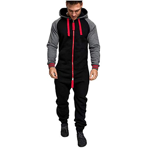Men's Christmas Onesie Jumpsuit one Piece Non Footed