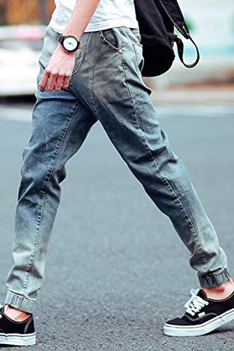 Vepodrau Denim Blu Uomini Affusolato Elasticizzati Occasionale Gli Slim Pantaloni Jeans Di 41rIx4Cqw