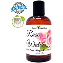 Premium Organic Moroccan Rose Water - 4oz - Imported From Morocco - 100% Pure (Food Grade) No Oils or Alcohol - Rich in Vitamin A & C. Perfect for Reviving, Hydrating & Rejuvenating Your Face & Neck