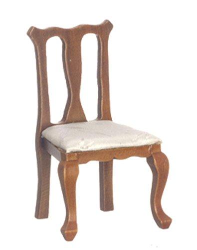 Melody Jane Dollhouse Walnut Queen Ann Side Chair Miniature Dining Room Furniture