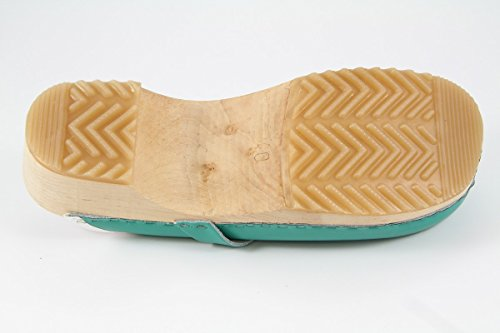 Danish design sabots naturholzsohle vert