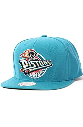 a7e2b8928e27f ... where can i buy mitchell ness mens the detroit pistons hwc wool solid  snapback cap one