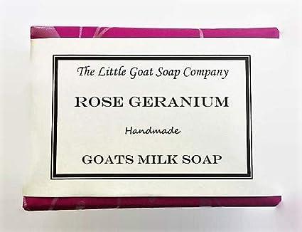 The Little Goat - Jabón para leche de cabra de geranio rosa