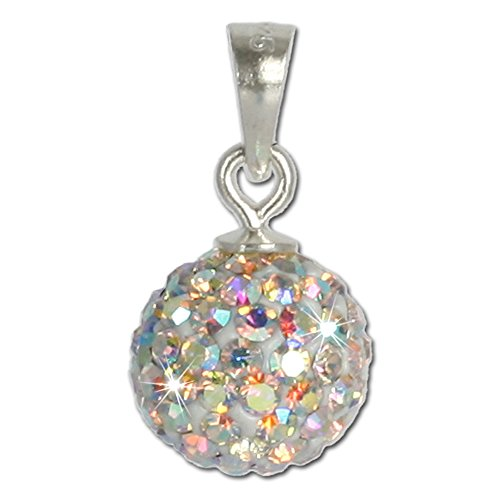Polar Pendant Light (SilberDream Glitter Pendant Swarowski Elements white polar light, 925 Sterling Silver Charms Pendant with Lobster Clasp for Charms Necklace GSH102)