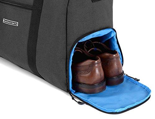Ronins stilvolle Sporttasche Reisetasche mit Schuhfach und Trinkflaschen-Halter | 38 Liter Handgepäck Tasche 55x40x20 | Hochwertige Canvas Weekender Tasche für Damen und Herren PjIbc5LA