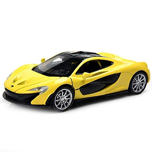 Pull 3 Castings - Ycco Car model Tesla Alloy Car Die-Casting Car Model Simulation 1:32 Pull Back Sound and Light Car Model Gift for Boys Toddlers Kids (Color : Black)