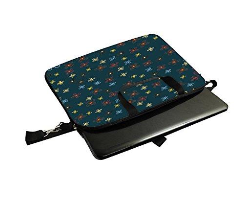 Snoogg orange blau Muster 30,5cm 30,7cm 31,8cm Zoll Laptop Notebook Computer Schultertasche Messenger-Tasche Griff Tasche mit weichem Tragegriff abnehmbarer Schultergurt für Laptop Tablet PC Ultrab