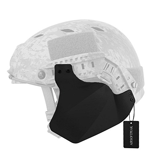 Tactical Airsoft Military Paintball Up-Armor Side Cover Ear Protection, Black